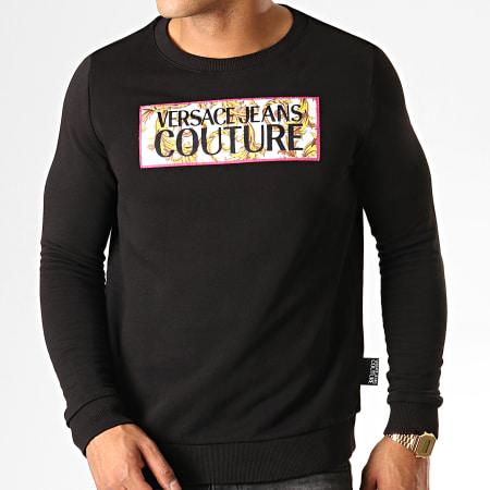+et Versace Jeans Couture - Sweat Crewneck Renaissance Patch 5 B6HUA795 Noir