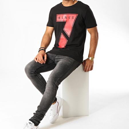 7 Binks - Tee Shirt Seven Noir Rouge