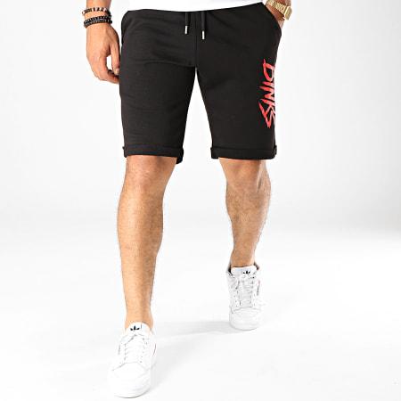 7 Binks - Short Jogging Logo Noir Rouge