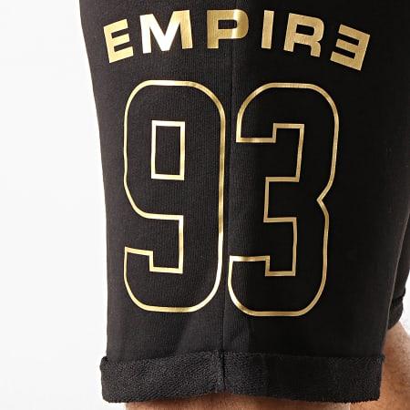 93 Empire - Short Jogging Dossard Noir Or