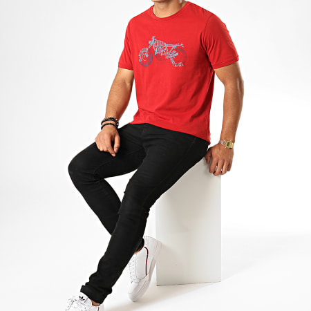 Jack And Jones - Tee Shirt Riders Bordeaux