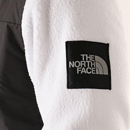 The North Face - Veste Zippée Polaire Denali Fleece 381M Noir Blanc