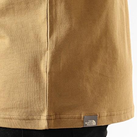The North Face - Tee Shirt Raglan Easy 37FV Vert Kaki Noir