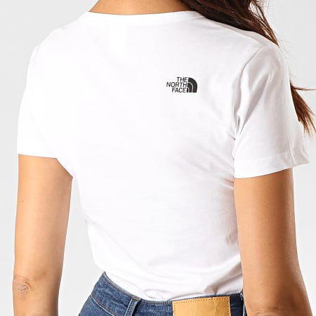 The North Face - Tee Shirt Slim Femme Col V Simple Dome A3H6 Blanc