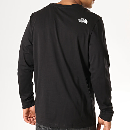 The North Face - Tee Shirt Manches Longues Simple Dome 3L3B Noir Blanc