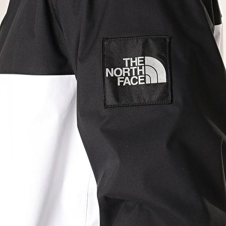 The North Face - Veste Zippée Capuche Mountain Q CR3Q Blanc Noir