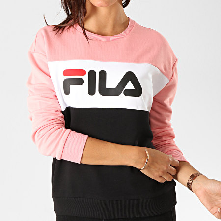 Fila - Sweat Crewneck Leah 687043 Noir Rose Blanc