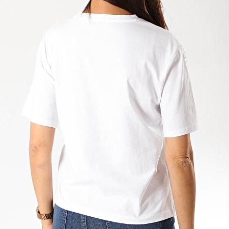 Guess - Tee Shirt Femme W94I70-JA900 Blanc Doré