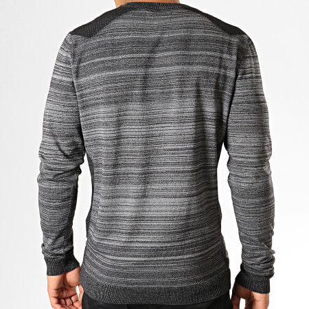 Jack And Jones - Pull Coelm Gris Anthracite Chiné