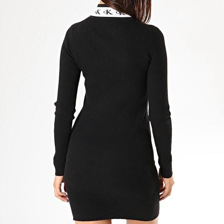 Calvin Klein Jeans - Robe Pull Femme Manches Longues 2154 Noir