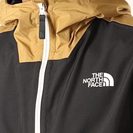 The North Face - Veste Outdoor Capuche Waterproof Fanorak F0A3XZM Marron Clair Noir