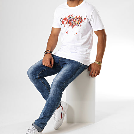 Seth Gueko - Tee Shirt Barlou Splatter Blanc