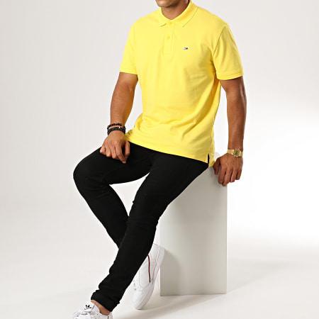 Tommy Hilfiger Jeans - Polo Manches Courtes Classics Solid Stretch 7196 Jaune