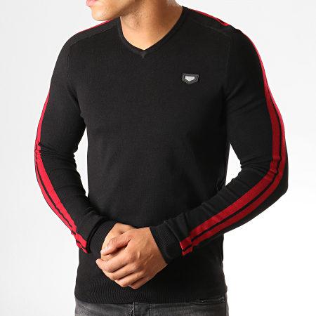 Antony Morato - Pull Col V Stripes Mania MMSW00956 Noir Rouge