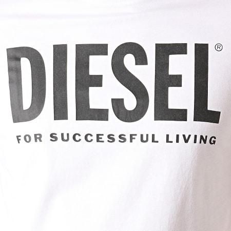 Diesel - Tee Shirt Diego Logo 00SXED-0AAXJ Blanc