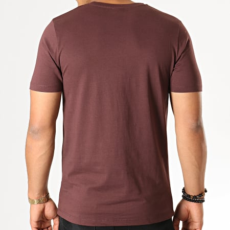 Jack And Jones - Tee Shirt Ripped Bordeaux