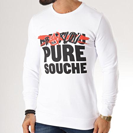 Seth Gueko - Sweat Crewneck Barlou Pure Souche Blanc