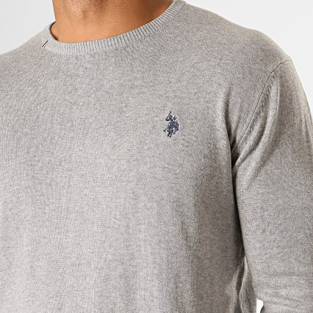 US Polo ASSN - Pull Robin Round N Gris Chiné