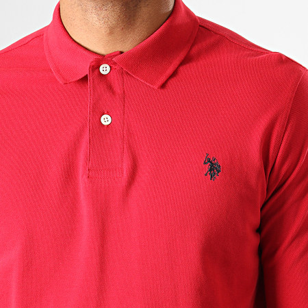 US Polo ASSN - Polo Manches Longues Institutional Rouge