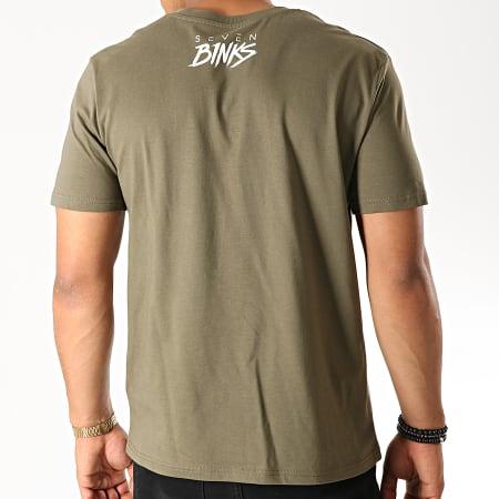 7 Binks - Tee Shirt Seven Vert Kaki Blanc