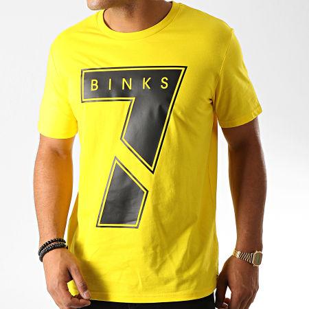 7 Binks - Tee Shirt Seven Jaune Noir