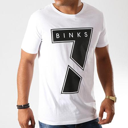 7 Binks - Tee Shirt Seven Blanc Noir