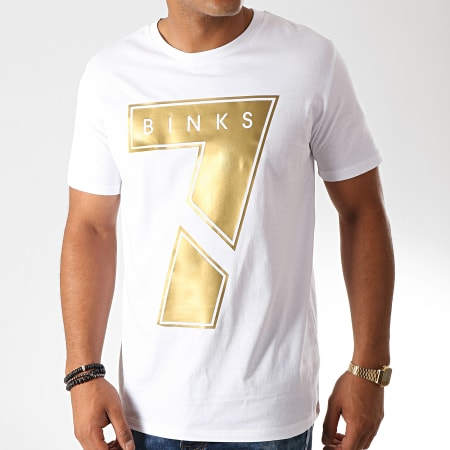 7 Binks - Tee Shirt Seven Blanc Doré