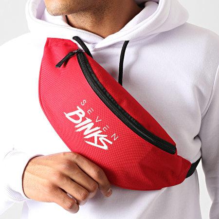 7 Binks - Sacoche Banane Logo Rouge Blanc