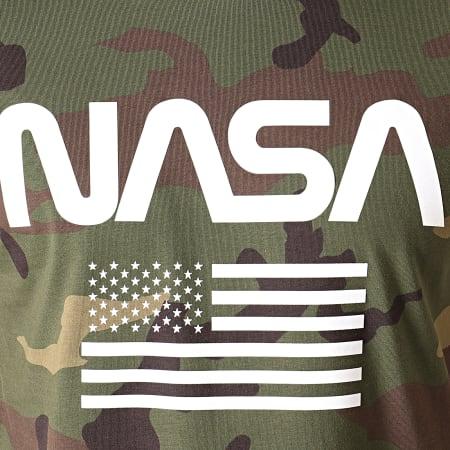 NASA - Tee Shirt Flag Camouflage Vert Kaki