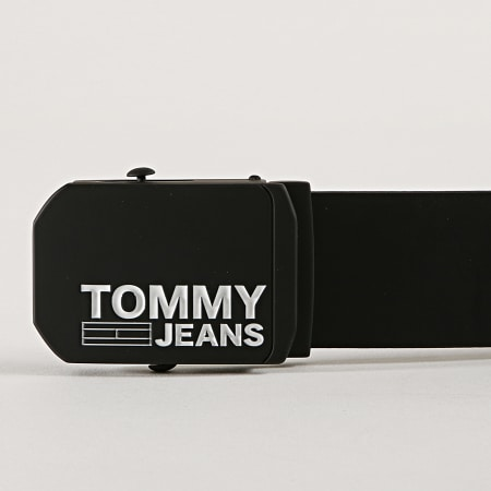 Tommy Hilfiger Jeans - Ceinture Plaque Leather Belt 5140 Noir