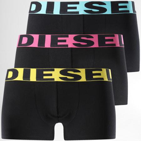 Diesel - Lot De 3 Boxers Instant Looks Noir