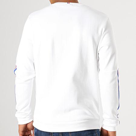 Le Coq Sportif - Sweat Crewneck A Bandes Tricolore N4 1921936 Blanc