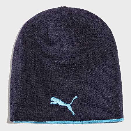 Puma - Bonnet Réversible OM Bleu Ciel Bleu Marine