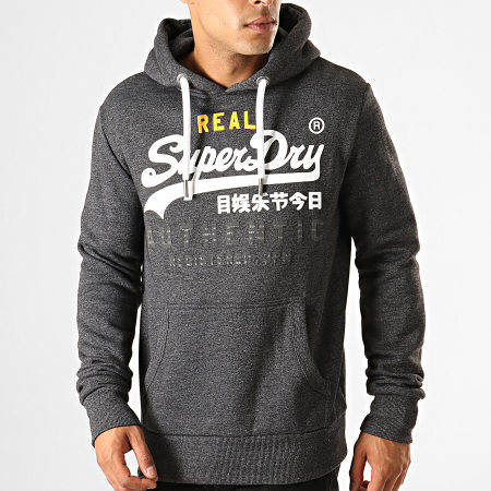 Superdry Sweat Capuche Vintage Authentic M2000069B Gris