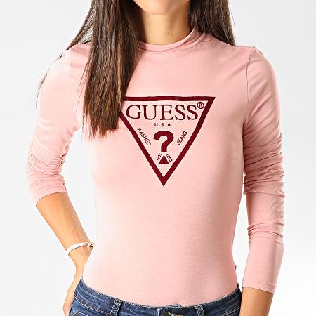 Guess - Body Femme W94P73-K7DK0 Rose Clair Bordeaux