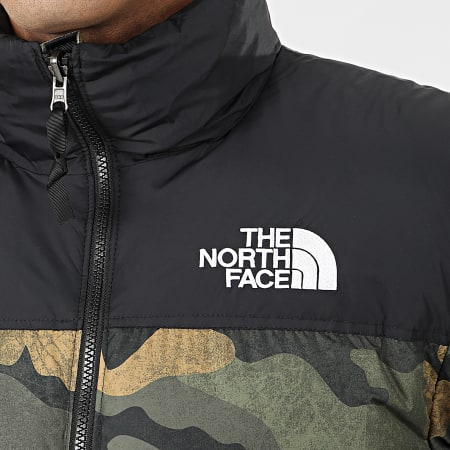 The North Face - Doudoune 1996 Retro Nuptse 3C8D Vert Kaki Camouflage