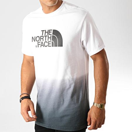 The North Face - Tee Shirt Dye 3XZC Blanc Noir Dégradé