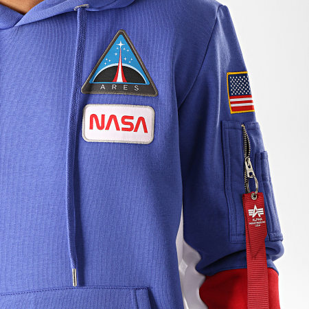 Alpha Industries - Sweat Capuche Space Camp Bleu Indigo