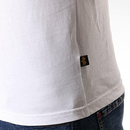 Alpha Industries - Tee Shirt Manches Longues NASA RS Blanc