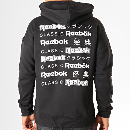 Reebok - Sweat Zippé Capuche Classics International Graphic EA3604 Noir