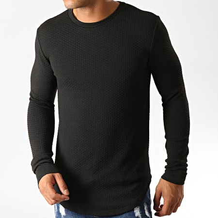 Uniplay - Tee Shirt Manches Longues Oversize UY428 Noir