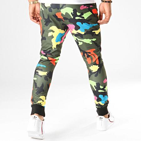 Uniplay - Pantalon Jogging Multicolore T3503 Vert Kaki Camouflage