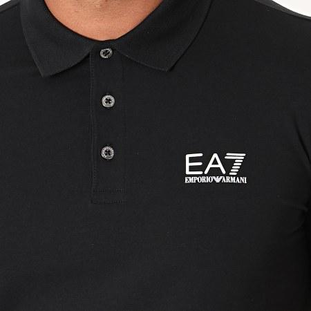 EA7 - Polo Manches Courtes 8NPF04-PJM5Z Noir Blanc