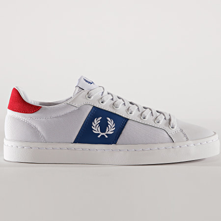 Fred Perry - Baskets B6120 Lawn Leather Mesh White
