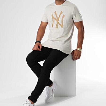 New Era - Tee Shirt MLB Seasonal Team Logo New York Yankees 12033497 Gris Clair