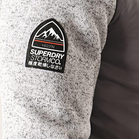 Superdry - Veste Zippée Capuche Storm Hybrid M2000040 Gris Clair Chiné Gris Foncé