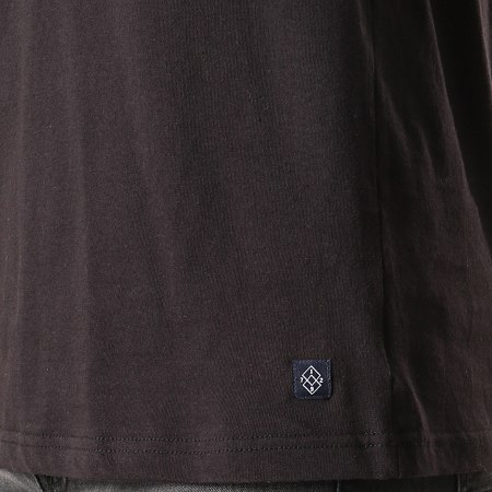 Brave Soul - Tee Shirt Manches Longues Capuche Sutton Noir Jaune