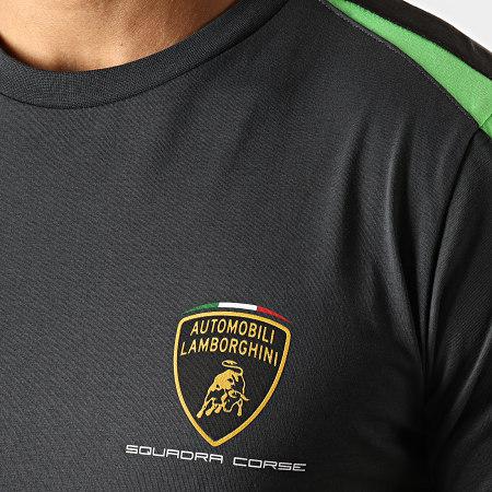 Lamborghini - Tee Shirt Squadra Corse LCMTS319404 Gris Anthracite Noir Vert