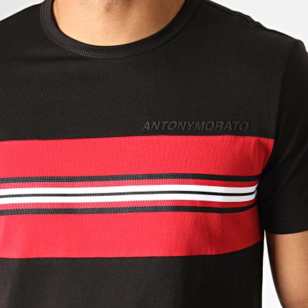 Antony Morato - Tee Shirt Abbigliamento MMKS01592 Noir Rouge Blanc