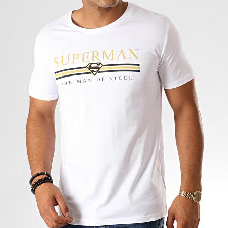 Superman - Tee Shirt Superman Institutional Man Of Steel Blanc